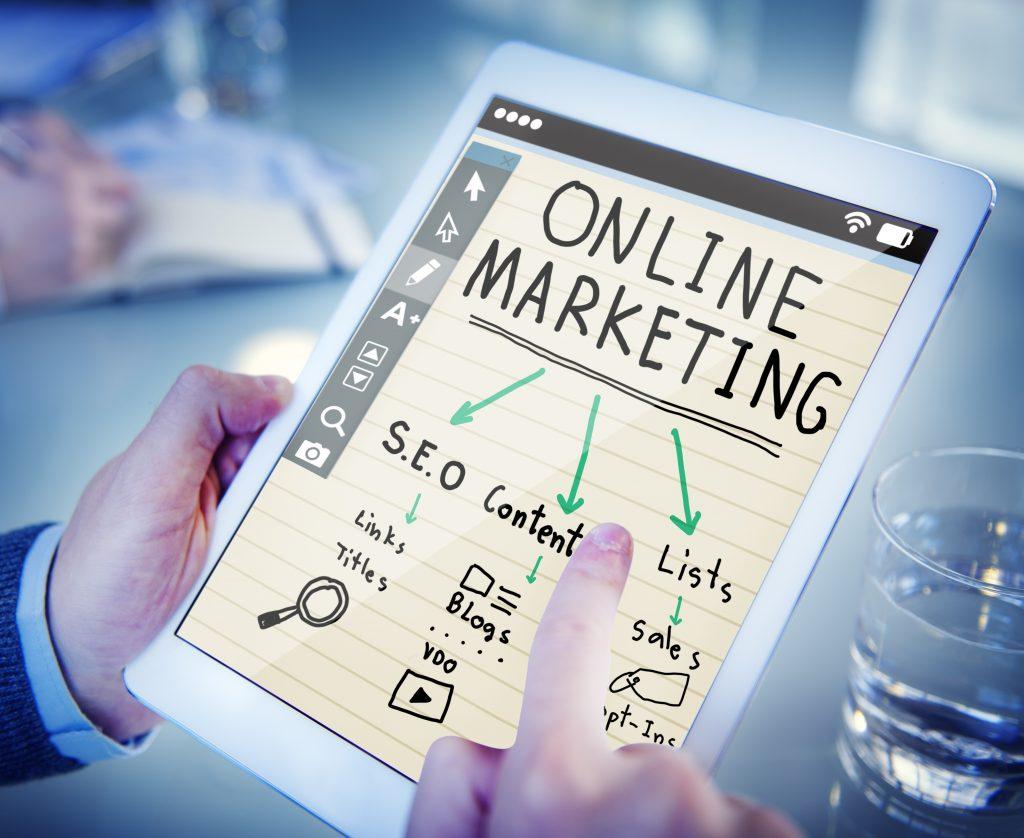Immagine che rappresenta uni pag con le diverse strategie del marketing