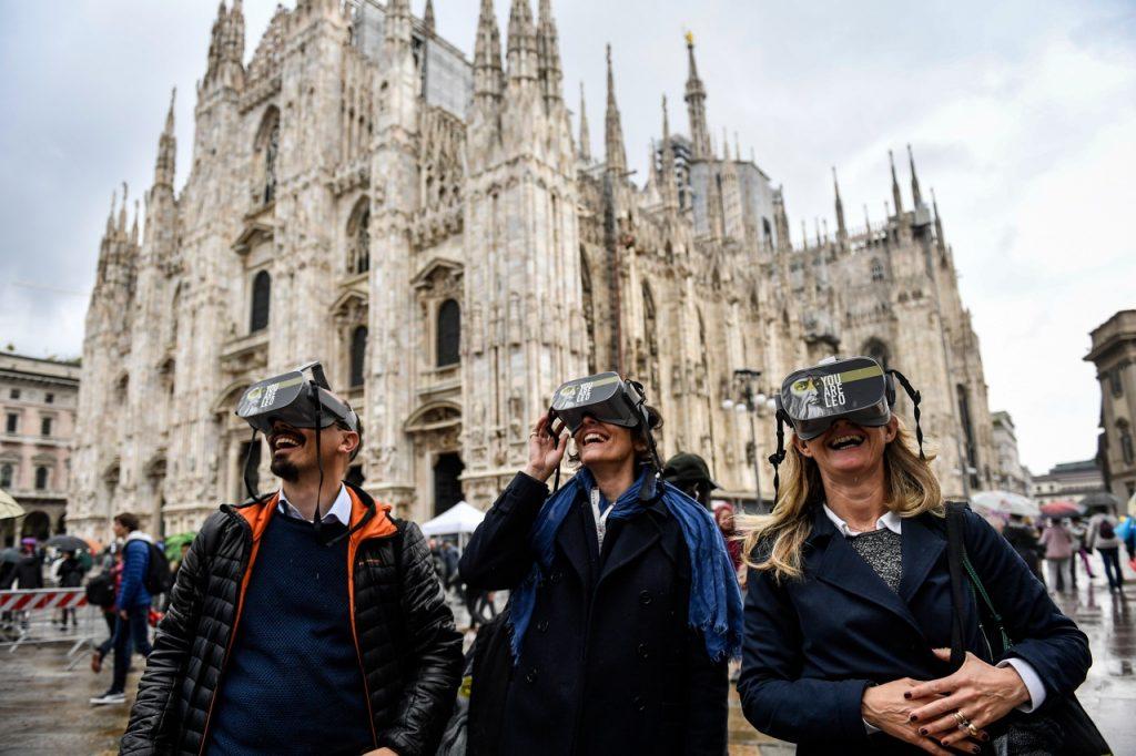 marketing esperienziale, Utilizzo della realtà virtuale in piazza Duomo