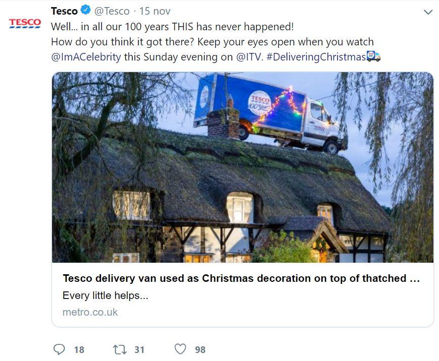 Le migliori campagne di Natale 2019 - Tesco