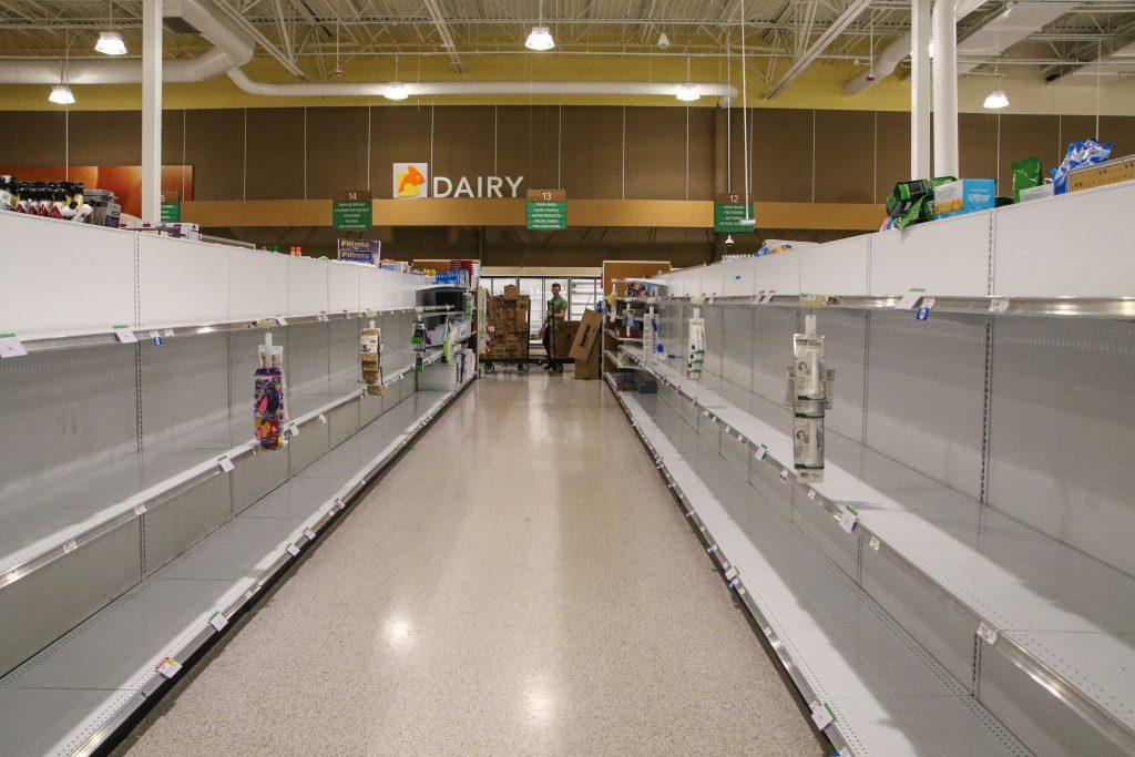 Coronavirus Brand - supermercati vuoti