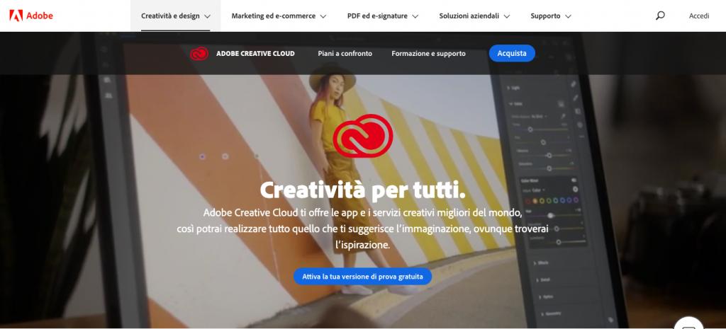 Interfaccia Adobe
