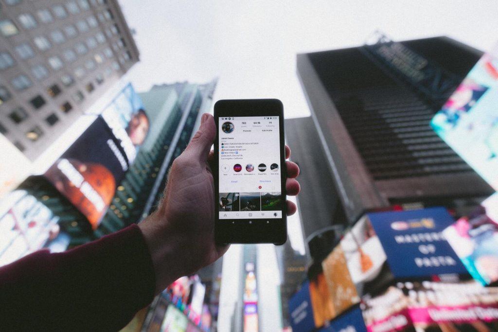 Interfaccia utente di Instagram
