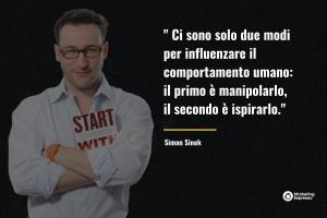 """Citazione libro """"Partire dal Perché"""" di Simon Sinek"""