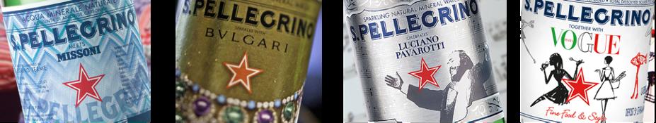 Etichette firmate in collaborazione con Missoni, Bulgari, Pavarotti e Vogue