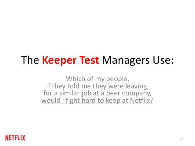 Il Keeper Test di Netflix.