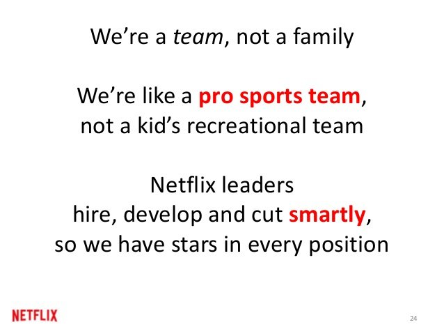 Netflix è una squadra e non una famiglia.