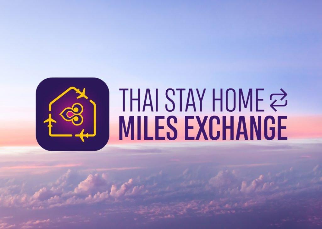 La figura mostra la campagna promossa da Thai Airways in Tailandia #Thaistayhomemilesexchange. Il ruolo sociale della campagna mira a incoraggiare le persone a stare a casa.
