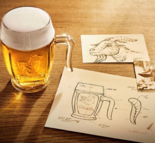 Boccale birra Kozel.